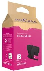 Inkcartridge Wecare Brother LC-980 rood