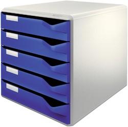 Ladenblok Leitz 5280 5 laden blauw