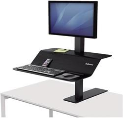 Zit-Sta werkplek Fellowes Lotus VE zwart voor één monitor