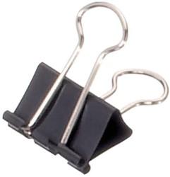 Papierklem Maul 213 Foldback 25mm capaciteit 9mm zwart p/12