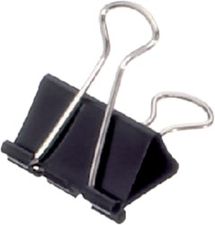Papierklem Maul 213 Foldback 32mm capaciteit 13mm zwart p/12