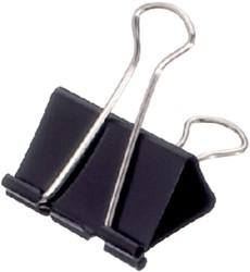 Papierklem Maul 213 Foldback 41mm capaciteit 19mm zwart p/12