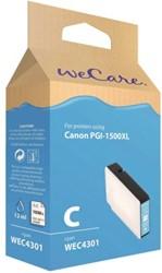 Inkcartridge Wecare Canon PGI-1500XL HC blauw