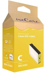 Inkcartridge Wecare Canon PGI-1500XL HC geel