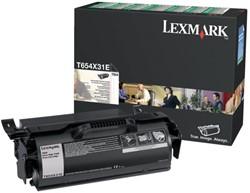 Tonercartridge Lexmark T654X31E zwart