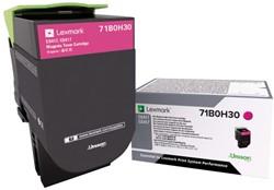Tonercartridge Lexmark 71B0H30 rood HC