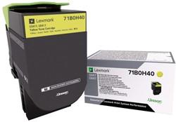 Tonercartridge Lexmark 71B0H40 geel HC