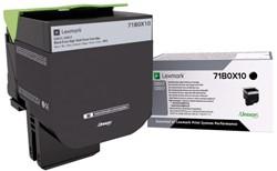 Tonercartridge Lexmark 71B0X10 zwart EHC