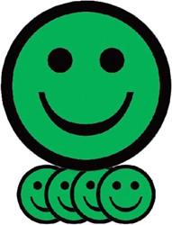 Magneet smiley 50mm emotie blij groen