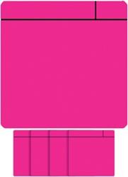 Magneet scrum 75x75mm roze