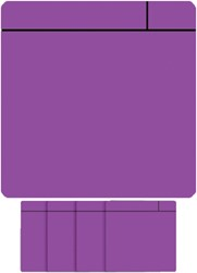 Magneet scrum 75x75mm paars