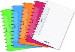 Schrift Adoc Colorlines A4 lijn144blz  90gr PP assorti