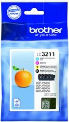 Inktcartridge Brother LC-3211 Zwart + 3 kleuren