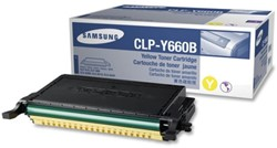 Tonercartridge Samsung CLP-660 geel HC