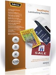 Lamineerhoes Fellowes A3 Easydisplay 2x80micron 25stuks