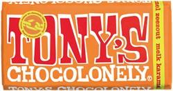 Chocolade Tony's Chocolonely reep 180gr melk karamel zeezout