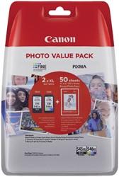 Inktcartridge Canon PG-545XL +  CL-546XL zwart + kleur