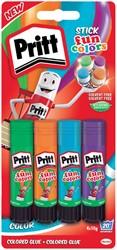 Lijmstift Pritt 10gr fun colors 1 blister à 4 stuks