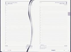 Agenda 2021 Brepols Saturnus kort 1dag/1pagina blauw