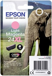 Inktcartridge Epson 24XL T2436 lichtrood HC