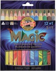 Kleurpotloden Koh-i-Noor Jumbo Magic doos 13 kleuren