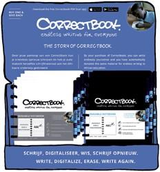 Notitieboek Correctbook uitwisbaar en herbruikbaar A5 zwart en wit lijn 40blz in counterdisplay à 20 stuks