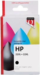 Inktcartridge Quantore HP C9351CE C9352CE 21XL 22XL