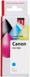Inktcartridge Quantore Canon CLI-521 blauw+chip