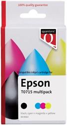 Inktcartridge Quantore Epson T071540 zwart + kleur