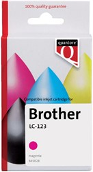 Inktcartridge Quantore Brother LC-123 rood
