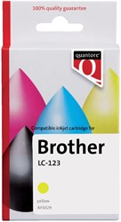 Inktcartridge Quantore Brother LC-123 geel