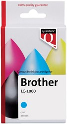 Inktcartridge Quantore Brother LC-1000 blauw