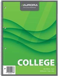 Collegeblok A4 4 gaats gelinieerd enkel spiraal 80 vel