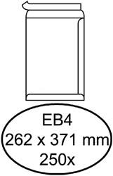Envelop Hermes akte EB4 262x371mm zelfklevend wit 250stuks