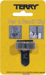 Terry Clip tbv 2 pennen/potlood zilverkleurig
