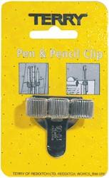 Terry Clip tbv 3 pennen/potlood zilverkleurig