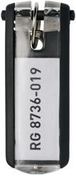 Sleutellabel Durable 1957 met ring zwart