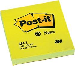 Memoblok 3M Post-it 654 76x76mm recycled geel