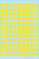 Etiket Herma 1841 rond 8mm geel 540stuks