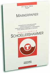 Markerblok Schoellershammer A3 75gr wit