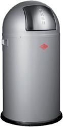 Afvalbak Wesco Pushboy aluminium grijs 50liter