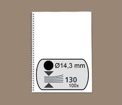 Draadrug GBC 14.3mm 34-rings A4 zwart 100stuks