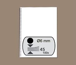 Draadrug GBC 6mm 34-rings A4 zwart 100stuks