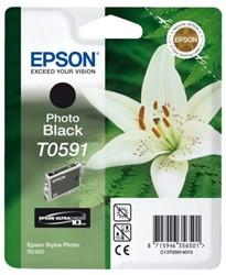 Inkcartridge Epson T0591 foto zwart