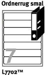 Ordnerrug etiketten en insteekkaarten voor printers