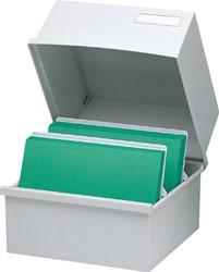 Kaartenbak Exacompta 240x238x187mm kunststof grijs