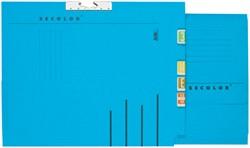 Verzamelmap Secolor A4 lateraal blauw
