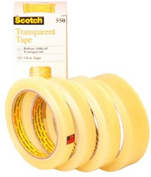 Plakband Scotch 550 12mmx66m transparant