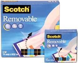 Plakband Scotch 811 19mmx66m onzichtbaar verwijderbaar mat