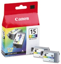 Inkcartridge Canon BCI-15 kleur 2x
